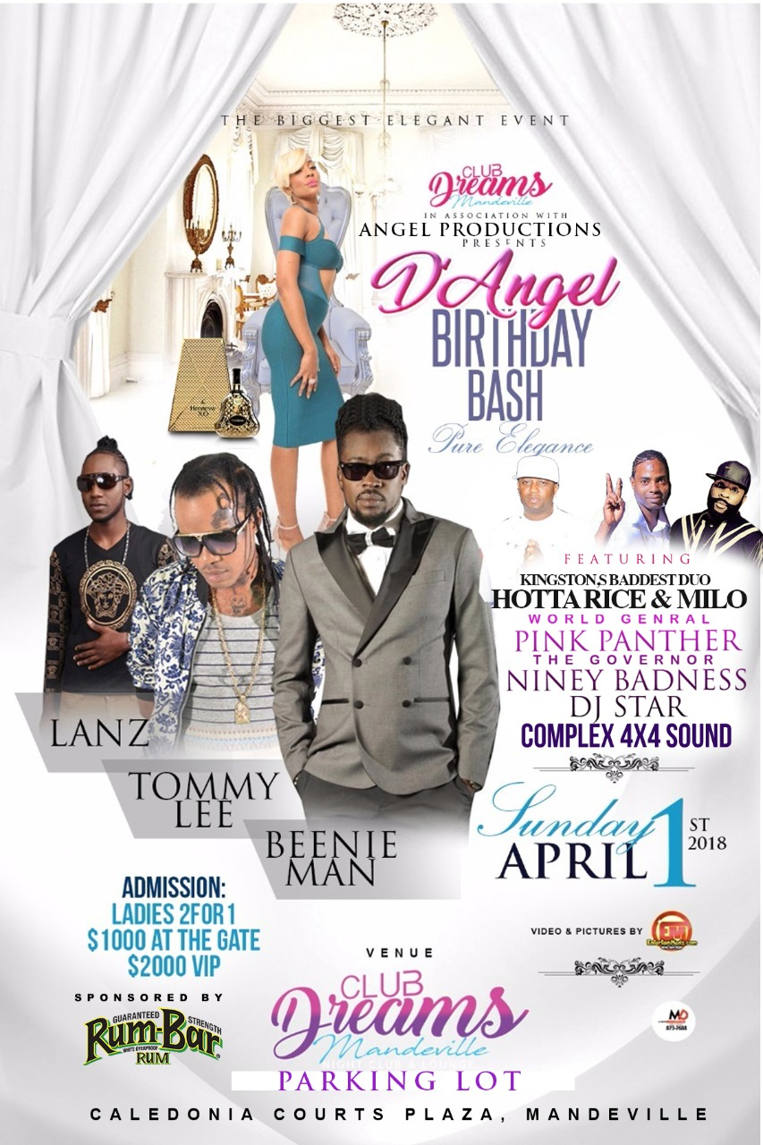 Beenie Man, Tommy Lee, Lanz Set for D'Angel Birthday Party